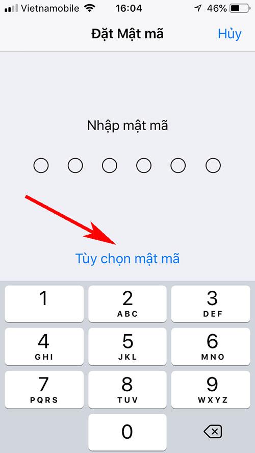 Thay đổi mật khẩu Iphone thành 4 số