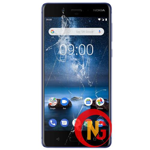 Màn hình Nokia 8.1 bị bể nát