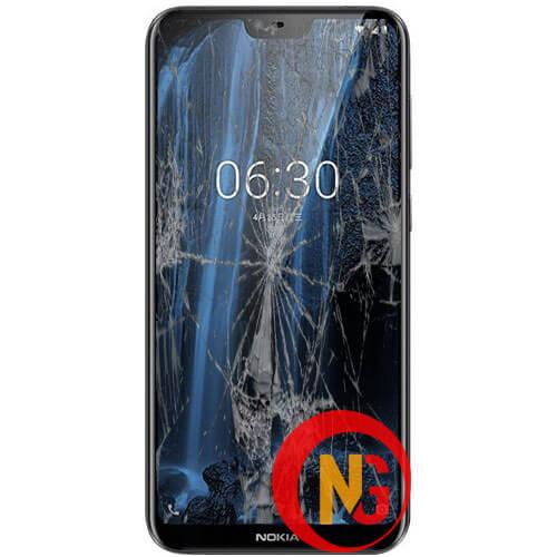 Mặt kính Nokia 6.1 bị bể