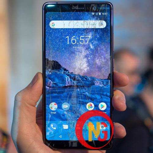 Mặt kính Nokia 7 bị trầy xước