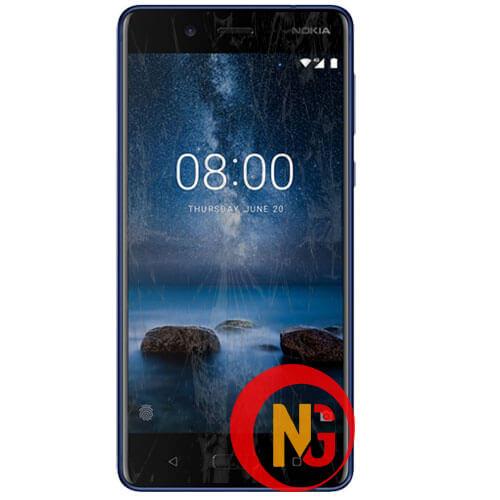 Mặt kính Nokia 8 bị mờ, trầy xước