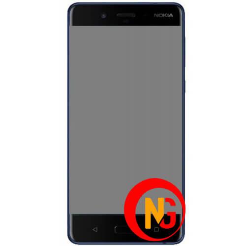 Màn hình Nokia 8 tối đen