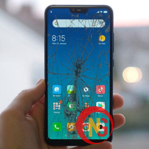 Màn hình Xiaomi Mi 8 Lite bể nát