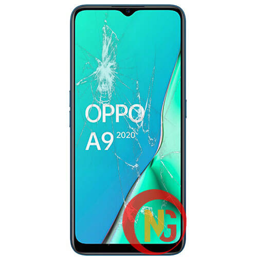 Mặt kính Oppo A9 bị bể vỡ