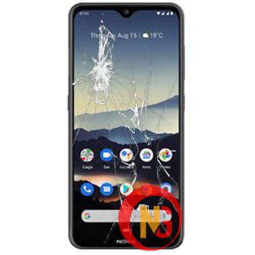 Màn hình Nokia 7.2 bị bể nát