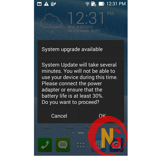 Cập nhật phần mềm Asus Zenfone Max Pro M2