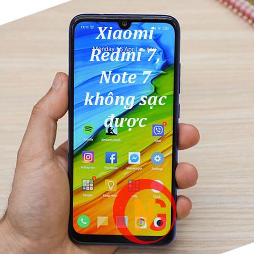 Xiaomi Redmi 7, Note 7 không sạc được