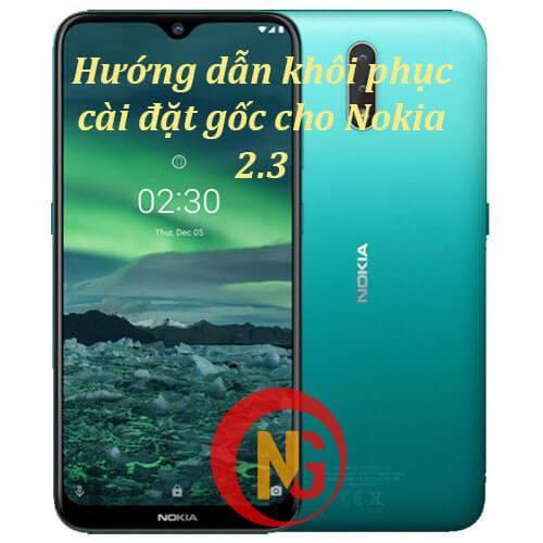 Khôi phục cài đặt gốc Nokia 2.3