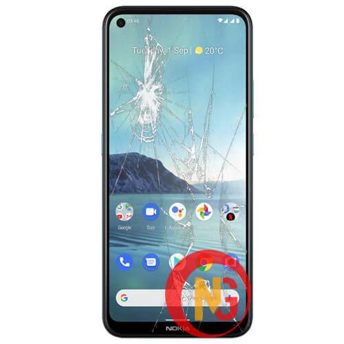 Mặt kính Nokia 3.4 bị bể