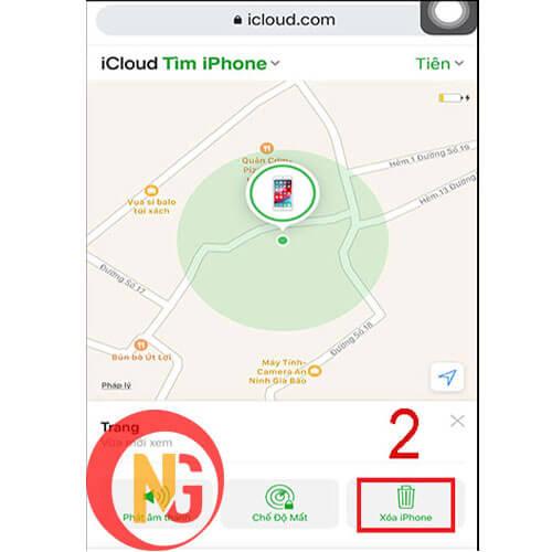 Xóa iphone khỏi liên kết Apple ID